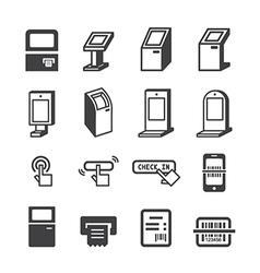 Kiosk icon vector