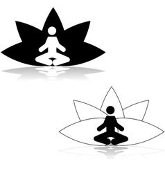 Lotus position meditation vector