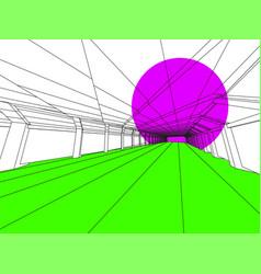 modern interior image vector image vector image