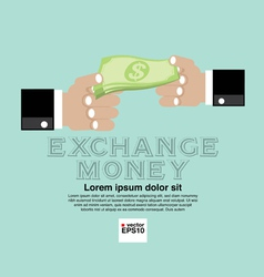 Money Exchange Concept EPS10 vector image vector image