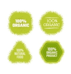Organic green label vector