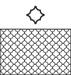 Quatrefoil pattern swatch vector