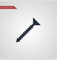 screw icon simple vector image