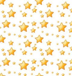 Seamless yellow stars vector image