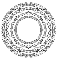 set of round frames on a white background vector image vector image