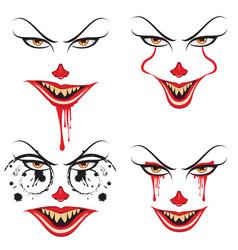 Spooky halloween makeup vector
