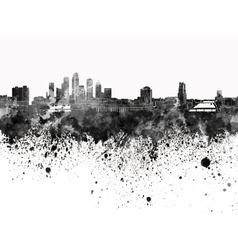 Tampa skyline in black watercolor on white vector image vector image