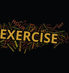 The power workout text background word cloud vector