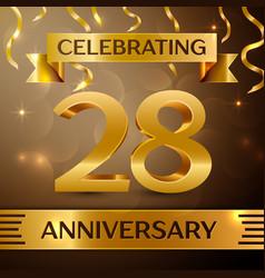 Twenty eight years anniversary celebration design vector