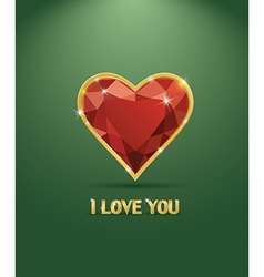 Valentines day luxury diamond heart vector image