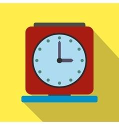 Vintage alarm clock flat icon vector image