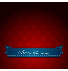 Vintage red Christmas greeting card vector image vector image