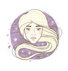 virgo zodiac sign vector image