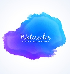 Blue watercolor paint stain vector