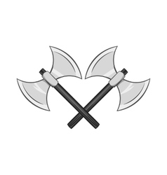 Battle axes with two tips icon monochrome style vector