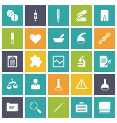 Icons plain tablet medical vector