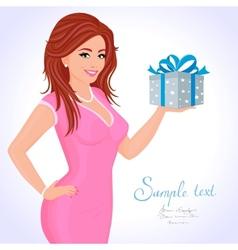 girl gift vector image
