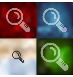 Magnifier icon on blurred background vector