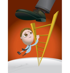Climbing the corporate ladder vector