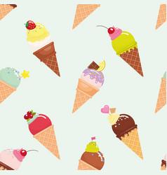 Ice cream cone seamless pattern background vector