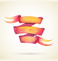 Watercolor ribbon vector