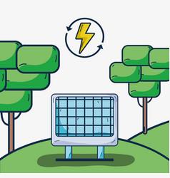 Solar energy with electrical hazard vector