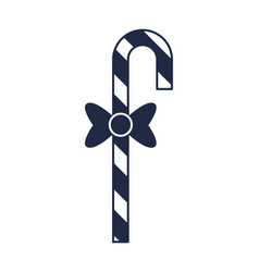 Striped christmas candy cane icon vector