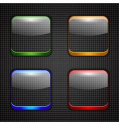 App buttons set vector image