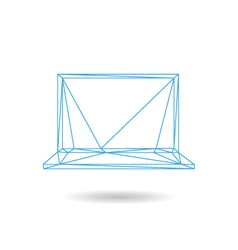 Laptop icon abstract vector
