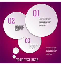 Purple page template presentation steps option vector