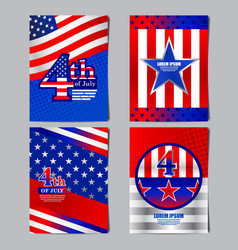 4th of july usa flag banner layout template vector