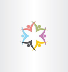 People team symbol star color icon vector