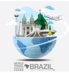 Brazil landmark global travel and journey vector