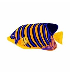 Zebrasoma fish icon cartoon style vector image