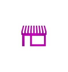 Store icon modern flat design vector