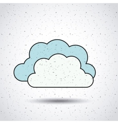 Clouds isolated icon design vector