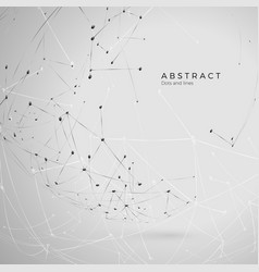 Abstract particle background futuristic plexus vector