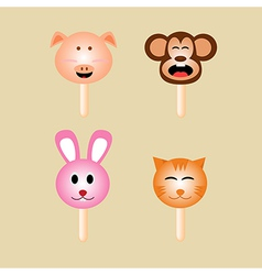 Animals ice cream vector image