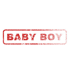 baby boy rubber stamp vector image vector image