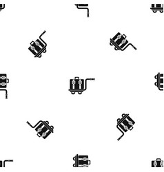 baggage cart pattern seamless black vector image vector image