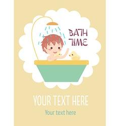 boy bath with ducks vector image