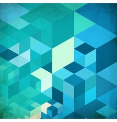 Bright abstract cubes blue background vector