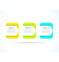 Bright step design vector