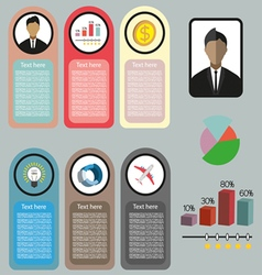 Business idea infographic with icons persons money vector
