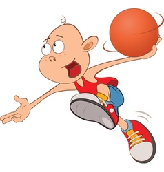 Cute Little Boy Basketball player vector image vector image