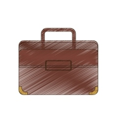 Drawing portfolio suitcase travel business vector