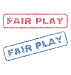 Fair play textile stamps vector