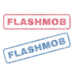 flashmob textile stamps vector image vector image
