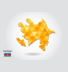 geometric polygonal style map of azerbaijan low vector image