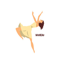 Girl dancing nouveau dance on vector